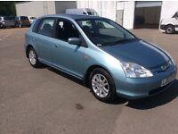 2002 Honda Civic executive 1.6cc petrol 5 door 11 months mot very clean car