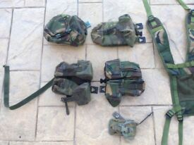 Camouflage items, pouches, belts etc.