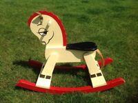 Handmade colourful rocking horse