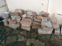 Free bricks red+ grey from an old fireplace. Free to uplift only