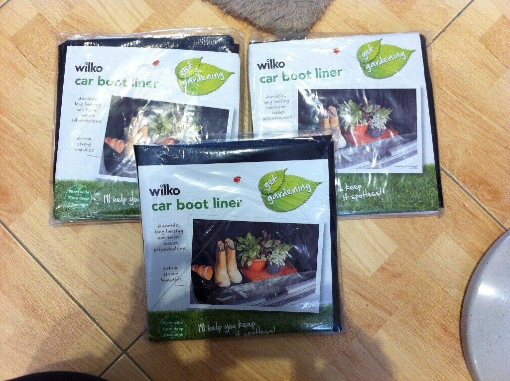 3 x Car Boot Liner / Protector Waterproof and strong NEW