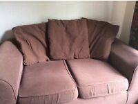 2 seater dark brown sofa