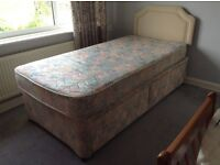 Single bed with 2 drawers and headboard