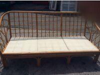 Retro bamboo 3 seater