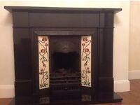 Black Granite Mantel - Integra colletion - Cast tec - Flat Victorian
