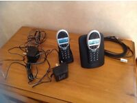 BT twin phone set