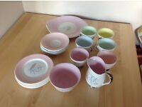 Vintage Queen Anne Harvest Teacup Set