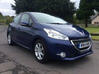 ABSOLUTELY STUNNING 2014 Peugeot 208 Active 999cc. ROAD TAX IS FREE. MOT May-2019. FSH. P\X Cons