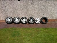"Renault Clio Mk3 Canasta 16"" wheels with winter tyres. Spare wheel and free tyre"