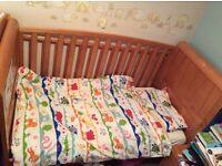 Cotbed, wardrobe & changing unit nursery furniture set