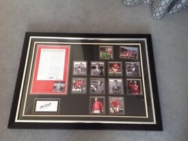 Manchester United Framed Memorabilia