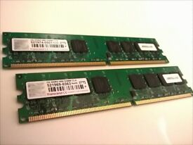 Transcend JM800QLU-2G 4GB (2* 2GB) DDR2-800MHz RAM Dual Channel Kit