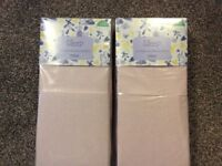 2 packs of new pink Moses basket sheets (4sheets in total)