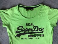 SUPERDRY Size M Green Womens T-Shirt