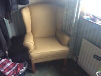 Large wing back chair, great condition