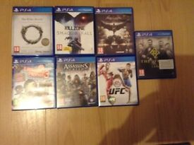 7 Ps4 games for sale/swap