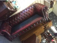 Chesterfield 3 seater sofa oxblood