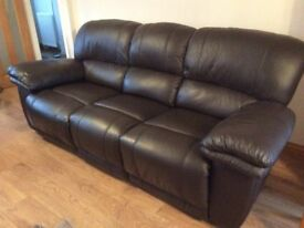 Genuine Leather Recliner Settees