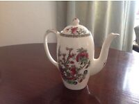 Indian Tree Coffee Pot with Lid by Johnson Bros, England