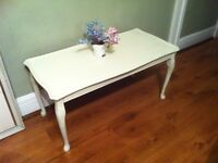 louis coffee table -shabby chic