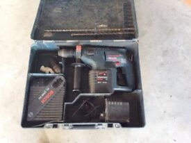24v sds bosch professional cordless drill with 2 batteries