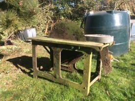 Saw bench,barn find,firewood,restoration,stationery engine,log saw