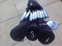 Full set of clubs and bag