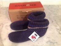 Haflinger blue wool slipper boots, BNIB, size 42