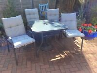 External patio table and chairs set