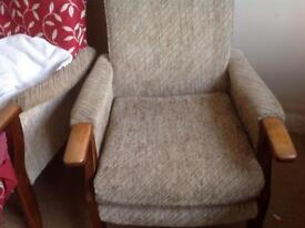 Matching fireside high back chairs