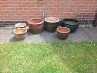 Ceramic garden pots £10 or £15 each