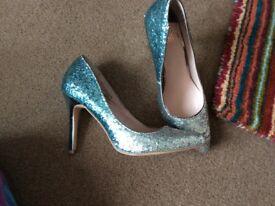 Silver Faith Heels