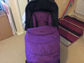 Purple sliver cross travel system