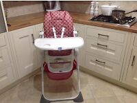 Chicco high hair, excellent condition like new,from smoke free and pet free home.