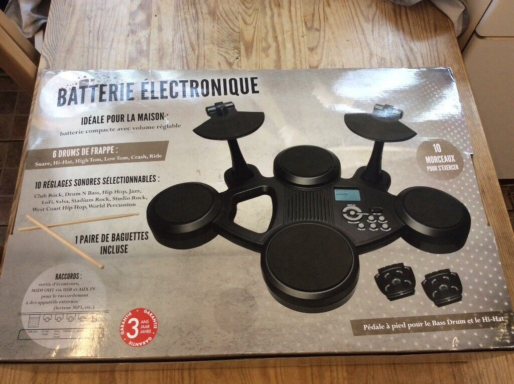 10 piece plug-in electronic drum kit | in West Hampstead, London | Gumtree