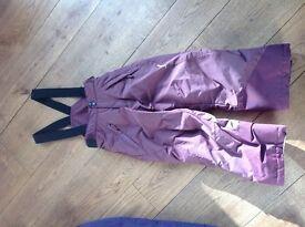 Child's ski trousers age 6