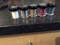 Brand New Collection Glam Crystals Range - Face & Body Glitter 5 colours pots