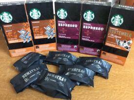 Coffee pods, mostly starbucks