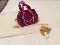 Radley Handbag in red leather in excellent condition with dust cover & leather cream