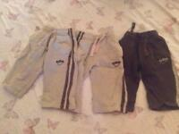 5 pairs of boys trousers 9-12 months