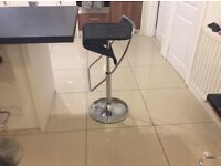 Two Stunning black and chrome bar stools ( brand new still in box)