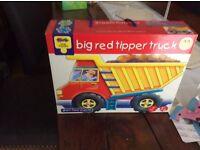 Big red tipper truck puzzle