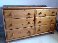 Pine chest of 6 drawers of quality