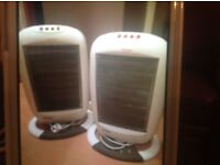 Portable halogen heaters ,two off or sell separate.
