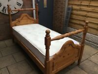 Gorgeous Single Bed Frame And Nearly New Mattress.