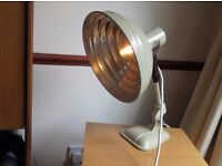 1950s converted pifco heat lamp angle head table lamp eddison bulb fully pat tested