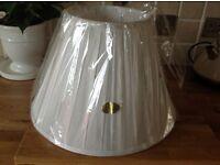 Silk Lamp Shade Cream - New