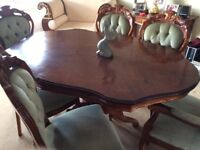Italian Inlaid Dining Table and 6 Chairs (consider Offers)