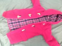 Girls bright pink coat size 4-5 jojo maman bebe