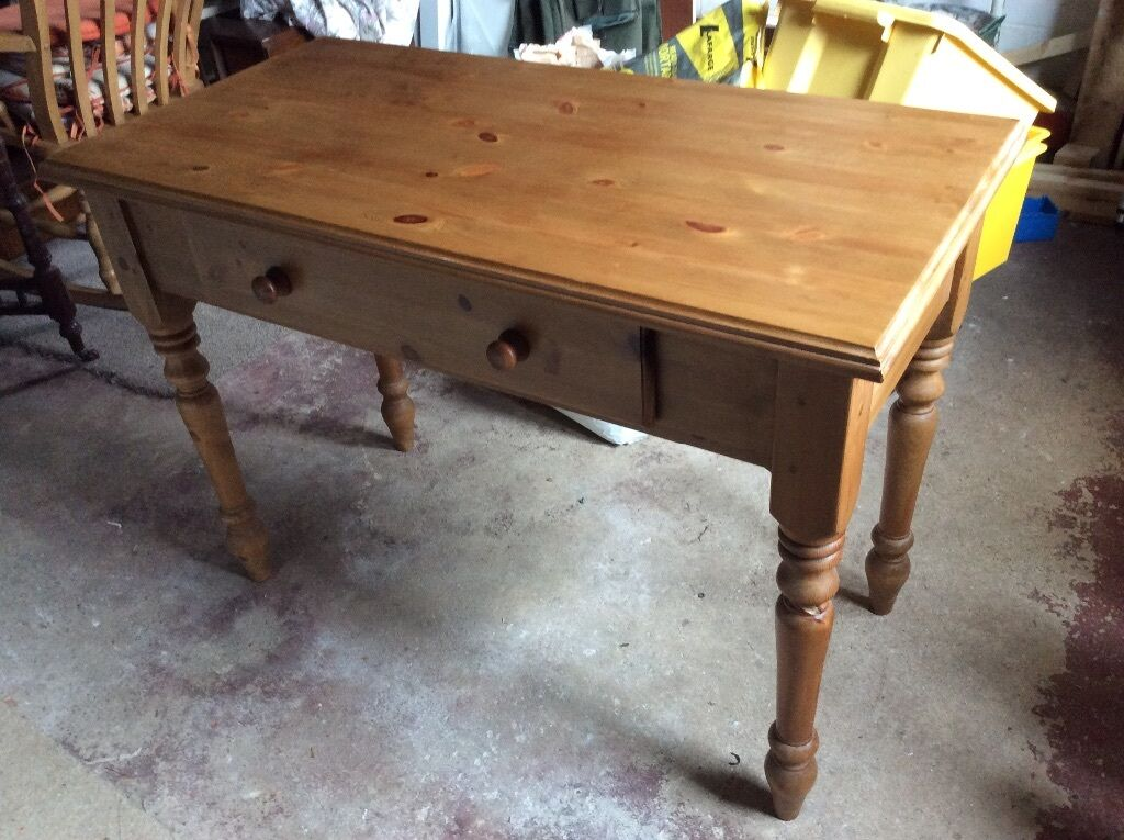 Vintage 1970s Solid Pine Console TableDesk With Dovetail  : 86 from www.gumtree.com size 1024 x 765 jpeg 122kB